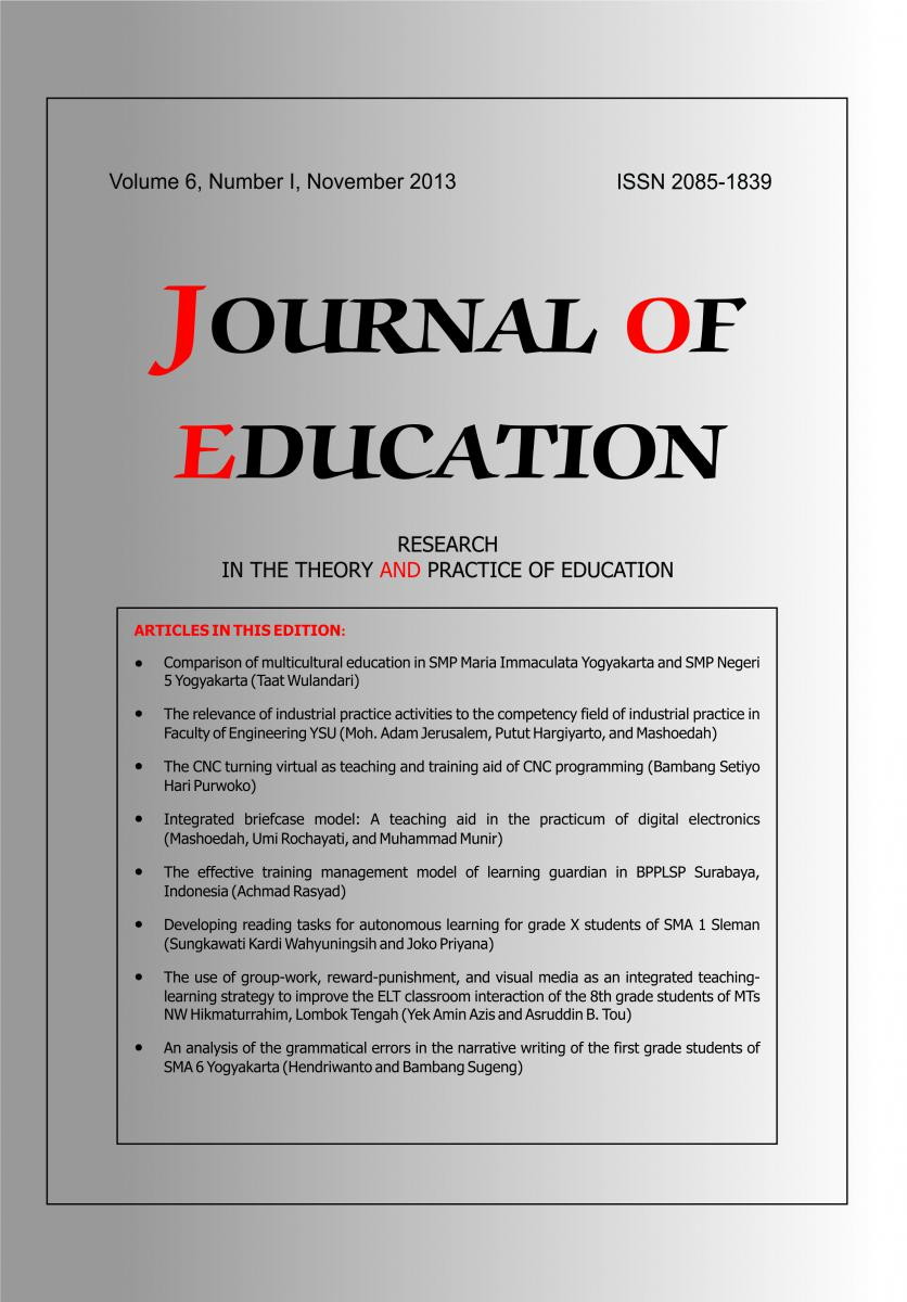 JOE, Journal of Education